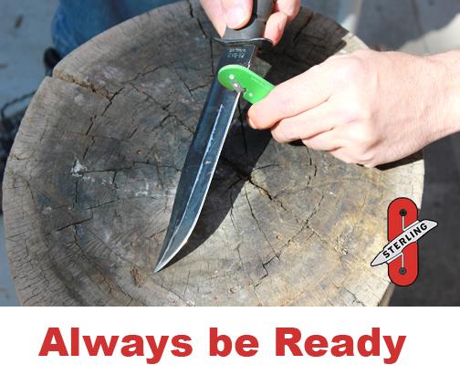 Razor sharp knives with Sterling Sharpener