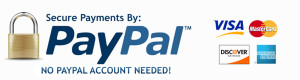 Sterling Knife Sharpeners accepts Paypal, Visa, Master Card, Discover and American Express